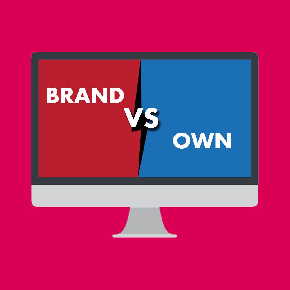Look at your brand site vs your own website