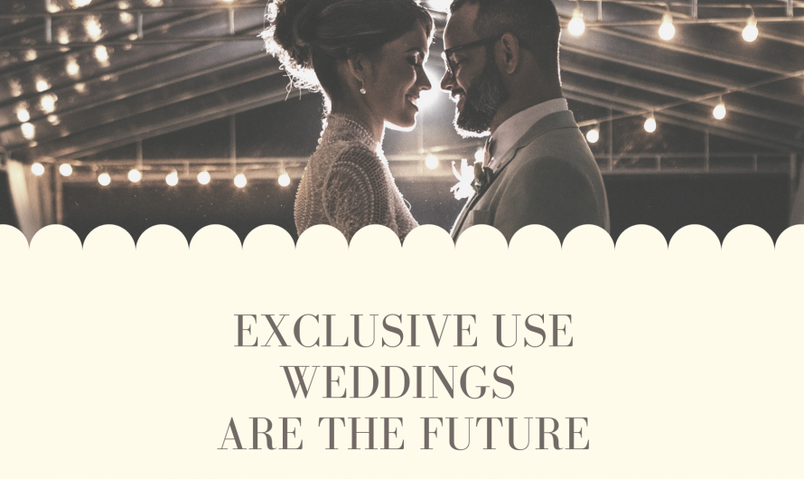 Exclusive Use Weddings are the Future
